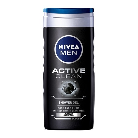 Nivea Men Active Clean dušo gelis vyrams 250 ml.