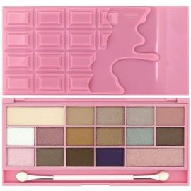 Makeup Revolution I Love Makeup I Heart Chocolate Pink Fizz šešėlių paletė 22 g.