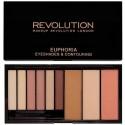 Makeup Revolution Euphoria Bare šešėlių ir kontūravimo paletė 18 g.