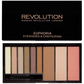 Makeup Revolution Euphoria Bronzed šešėlių ir kontūravimo paletė 18 g.