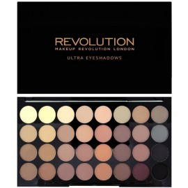 Makeup Revolution Ultra Eyeshadows Palette Flawless Matte šešėlių paletė 16 g.