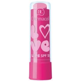 Dermacol Love Lips SPF 15 lūpų balzamas 09 Bubble Gum