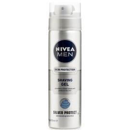 Nivea Men Silver Protect skutimosi gelis vyrams 200 ml.