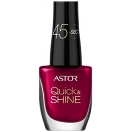 ASTOR Quick & Shine greitai džiūstantis nagų lakas 302 Glass Of Wine 8 ml.