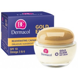 Dermacol Gold Elixir Rejuvenating jauninamasis dieninis kremas 50 ml.