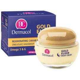 Dermacol Gold Elixir Rejuvenating jauninamasis naktinis kremas 50 ml.
