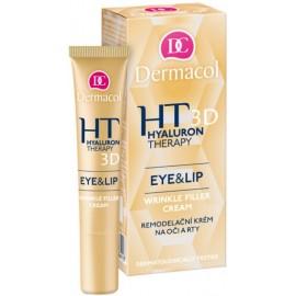 Dermacol Hyaluron Therapy 3D paakių ir lūpų kremas su hialurono rūgštimi 15 ml.