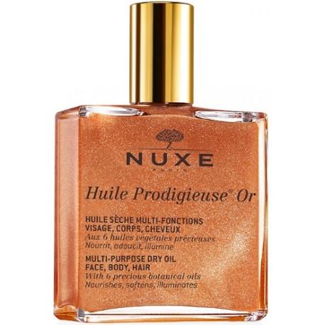 Nuxe Multifunctional dry oil sausas aliejus su švytinčiomis dalelėmis veidui/kūnui/plaukams 100 ml.