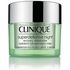 Clinique Superdefense Night Recovery atstatantis naktinis veido kremas mišriai/riebiai odai 50 ml.