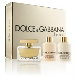 Dolce & Gabbana The One rinkinys moterims (75 ml. EDP + losjonas + gelis)