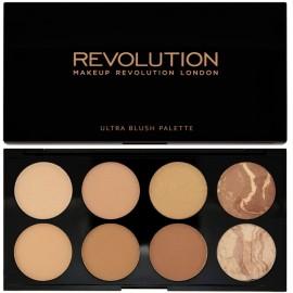 Makeup Revolution Ultra Bronze Palette (Blush&Contour Palette) All About Bronze veido modeliavimo ir bronzantų paletė 13 g.