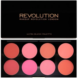 Makeup Revolution Ultra Blush Palette (Blush&Contour Palette) All About Cream kreminių skaistalų paletė 13 g.
