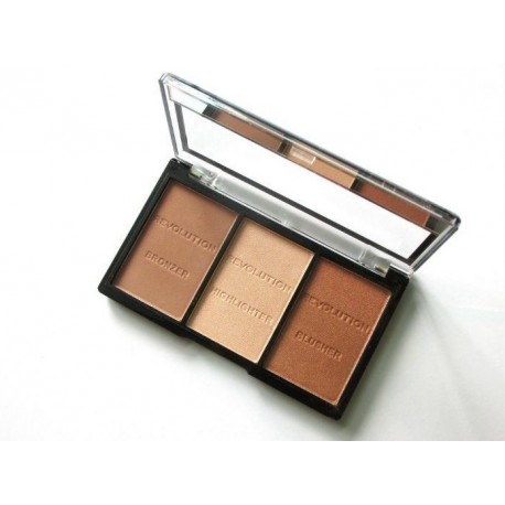 Makeup Revolution Ultra Sculpt&Contour Kit rinkinys kontūravimui Light/Medium C04 11 g.