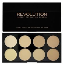 Makeup Revolution Ultra Cover&Conceal maskavimo paletė Light 10 g.