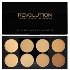 Makeup Revolution Ultra Cover&Conceal maskavimo paletė Light/Medium 10 g.
