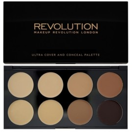 Makeup Revolution Ultra Cover&Conceal maskavimo paletė Medium Dark 10 g.