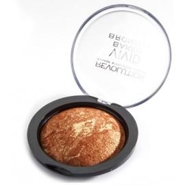 Makeup Revolution VIVID BAKED BRONZER kompaktinė brozinė pudra (spalva Rock On World)