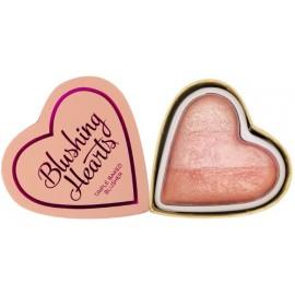 Makeup Revolution I Love Makeup Heart Blusher skaistalai Peachy Pink Kisses 10 g.