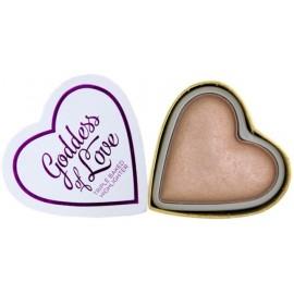 Makeup Revolution I Love Makeup Heart Highlighter švytėjimo suteikianti priemonė Goddess Of Love 10 g.