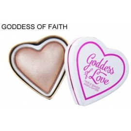 Makeup Revolution I Love Makeup Heart Highlighter švytėjimo suteikianti priemonė Goddess Of Faith 10 g.