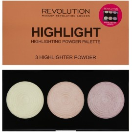 Makeup Revolution Highlighter Palette Highlight  švytėjimo suteikianti paletė 15 g.
