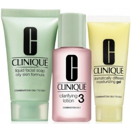 Clinique 3 Step Skin Care System 3 II rinkinys mišriai/riebiai odai 180 ml.