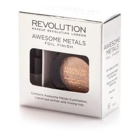 Makeup Revolution Awesome Metals Foil akių šešėliai Rose Gold 1,5 g.