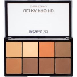 Makeup Revolution HD Pro Cream Contour kontūravimo paletė Medium Dark 20 g.