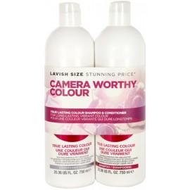 Tigi S Factor True Lasting Colour rinkinys dažytiems plaukams (750 ml. šampūnas + 750 ml. kondicionierius)