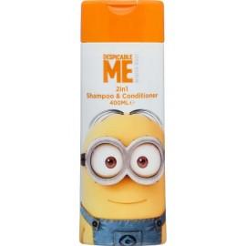 Minions Shampoo & Conditioner 2in1 šampūnas-kondicionierius vaikams 400 ml.