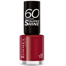 Rimmel 60 Seconds Super Shine Nail Polish greitai džiūstantis nagų lakas 320 Rapid Ruby 8 ml.