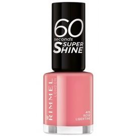 Rimmel 60 Seconds Super Shine Nail Polish greitai džiūstantis nagų lakas 405 Rose Libertine 8 ml.