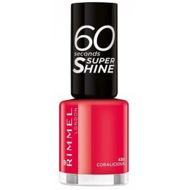 Rimmel 60 Seconds Super Shine Nail Polish greitai džiūstantis nagų lakas 430 Coralicious 8 ml.