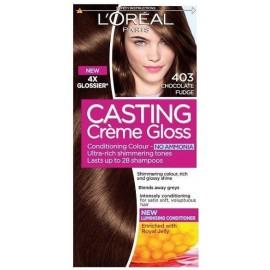 Loreal Casting Creme Gloss plaukų dažai be amoniako 403 Chocolate Fudge
