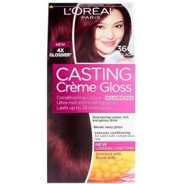 Loreal Casting Creme Gloss plaukų dažai be amoniako 360 Black Cherry