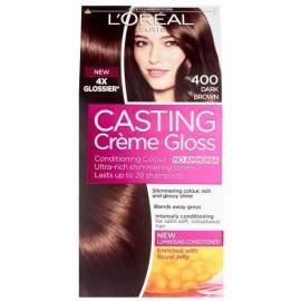 Loreal Casting Creme Gloss plaukų dažai be amoniako 400 Dark Brown