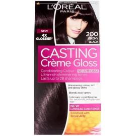 Loreal Casting Creme Gloss plaukų dažai be amoniako 200 Ebony Black