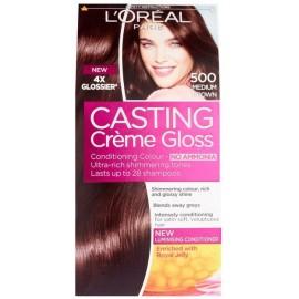 Loreal Casting Creme Gloss plaukų dažai be amoniako 500 Medium Brown