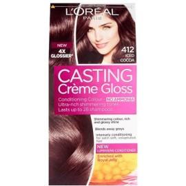 Loreal Casting Creme Gloss plaukų dažai be amoniako 412 Iced Cocoa