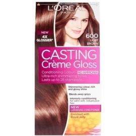 Loreal Casting Creme Gloss plaukų dažai be amoniako 600 Light Brown