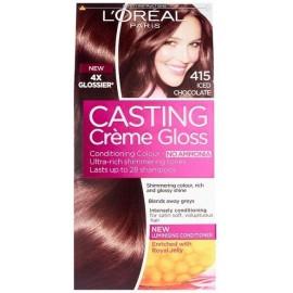 Loreal Casting Creme Gloss plaukų dažai be amoniako 415 Iced Chocolate