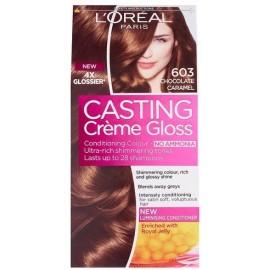 Loreal Casting Creme Gloss plaukų dažai be amoniako 603 Chocolate Carame
