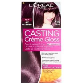Loreal Casting Creme Gloss plaukų dažai be amoniako 316 Plum