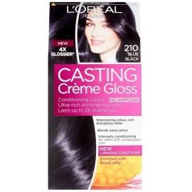 Loreal Casting Creme Gloss plaukų dažai be amoniako 210 Blue Black