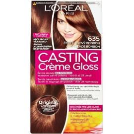 Loreal Casting Creme Gloss plaukų dažai be amoniako 635 Chocolate Bonbon