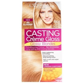 Loreal Casting Creme Gloss Glossy Blonds dažai be amoniako 801 Silky Blonde