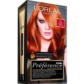 Loreal Préférence Féria ilgalaikiai plaukų dažai 74 Mango