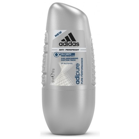 Adidas Adipure rutulinis antiperspirantas vyrams 50 ml.