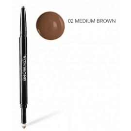 Maybelline BrowSatin išsukamas antakių pieštukas ir antakių pudra 02 Medium Brown
