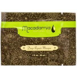 Macadamia Deep Repair Masque atkuriamoji kaukė pažeistiems plaukams 30 ml.